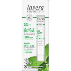 Lavera PURE BEAUTY Gel Anti Boutons 15ml gel peaux jeunes les copines bio