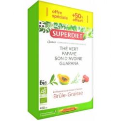 Super Diet Quatuor the vert papaye son d'avoine guarana 30x15ml les copines bio