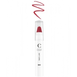 Couleur Caramel Twist & lips No 404 -  Rose de rouge 3 g produit de maquillage minéral Les Copines Bio