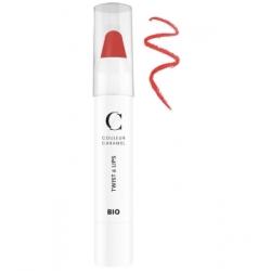 Couleur Caramel Twist & lips No 410 -  Corail 3 g produit de maquillage minéral Les Copines Bio