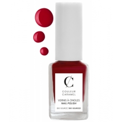 Couleur Caramel Vernis à ongles No 08 -  Rouge mat 11 ml produit de maquillage pour les ongles Les Copines Bio