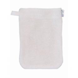 Popolini 1 gant de toilette d'apprentissage enfant en coton biologique écru x1 gant pour l'hygiène et la toilette Les Copines Bi
