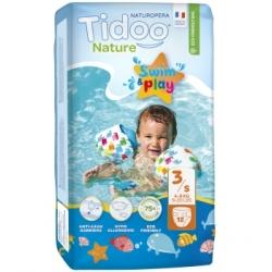 Tidoo 12 Couches de Bain (T3/S) 4/9kg x12 Produit d'Hygiène pour le change de bébé Les Copines Bio