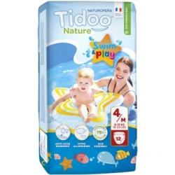 Tidoo 12 Couches de Bain (T4/M) 8/15kg x12 Produit d'Hygiène pour le change de bébé Les Copines Bio