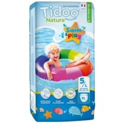 Tidoo 12 Couches de Bain (T5/L) 12/18kg x12 Produit d'Hygiène pour le change de bébé Les Copines Bio