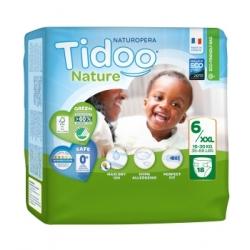 Tidoo 18 Couches Single Pack (T6/XXL) 16 30 Kg x18 Produit d'Hygiène pour le change de bébé Les Copines Bio