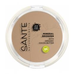 Sante Naturkosmetik 2 en 1 Contouring et Poudre bronzante N°1 Light Medium 9gr produit de maquillage pour le Teint Les Copines B