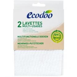 Ecodoo 2 lavettes multi usages en matières recyclées à 97% x2 accessoire pour produit d'entretien Les Copines Bio