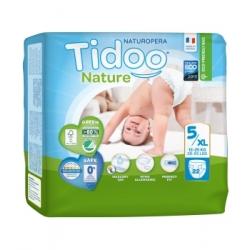 Tidoo 22 Couches Single Pack (T5/XL) 12/25kg x22 Produit d'Hygiène pour le change de bébé Les Copines Bio
