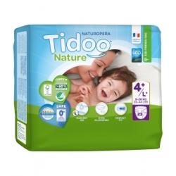 Tidoo 23 Couches Single Pack (T4+/L+) 9/20kg x23 Produit d'Hygiène pour le change de bébé Les Copines Bio