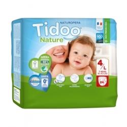 Tidoo 24 Couches Single Pack (T4/L) 7/18kg x24 Produit d'Hygiène pour le change de bébé Les Copines Bio