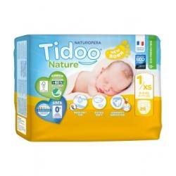 Tidoo 26 Couches Single Pack (T1/XS) 2/5kg x26 Produit d'Hygiène pour le change de bébé Les Copines Bio