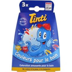 Tinti 3 pastilles pour le bain Bleu Jaune Rouge x3 Produit d'hygiène corporelle Les Copines Bio