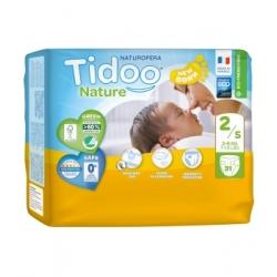 Tidoo 31 Couches Single Pack (T2/S) 3/6kg x31 Produit d'Hygiène pour le change de bébé Les Copines Bio