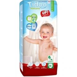 Tidoo 32 Culottes d'Apprentissage Jumbo Pack (T6/XL) 16/30kg x32 Produit d'Hygiène pour le change de bébé Les Copines Bio