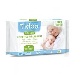 Tidoo 40 Lingettes au liniment à l'huile d'olive et coton bio x40 produit de soin et de toilette pour bébé Les Copines Bio