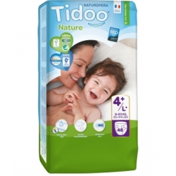Tidoo 48 Couches Jumbo Pack (T4+/L+) 9/20kg x48 Produit d'Hygiène pour le change de bébé Les Copines Bio