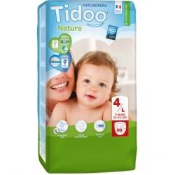 Tidoo 50 Couches Jumbo Pack (T4/L) 7/18kg x50 Produit d'Hygiène pour le change de bébé Les Copines Bio
