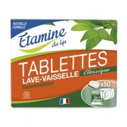 Etamine du Lys 50 Tablettes lave vaisselle 1kg x50 Produit de lavage pour la vaisselle Les Copines Bio