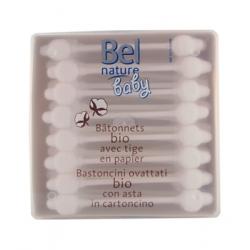 Bel Nature 56 Bâtonnets sécurité oreille bébé coton bio x56 produit de soin des oreilles Les Copines Bio