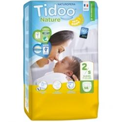 Tidoo 58 Couches Jumbo Pack (T2/S) 3/6kg x58 Produit d'Hygiène pour le change de bébé Les Copines Bio