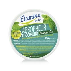 Etamine du Lys Absorbeur d'odeurs à l'huile essentielle de menthe bio 250gr Produit d'entretien de la maison Les Copines Bio