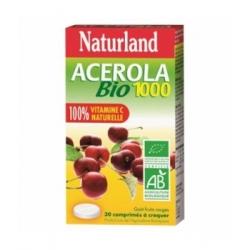 Naturland Acérola 1000 Bio 30 comprimés à croquer Complément alimentaire Les Copines Bio