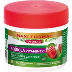 Super Diet Acérola 500 Vitamine C naturelle 90 comprimés Complément alimentaire Les Copines Bio