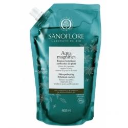 Sanoflore Aqua Magnifica essence botanique Recharge 400ml produit de soin et de nettoyage pour le visage Les Copines Bio
