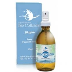 Bio Colloidal Laboratoire Argent Colloïdal 10 PPM Spray 60ml produit à usage cosmétique et externe Les Copines Bio