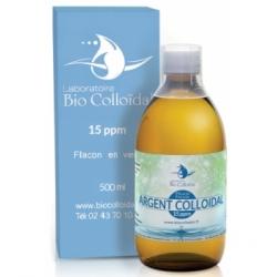 Bio Colloidal Laboratoire Argent Colloïdal 15 PPM 500ml produit à usage cosmétique et externe Les Copines Bio