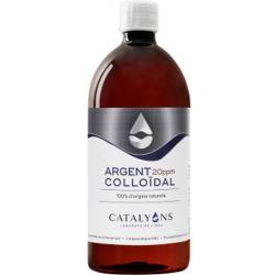 Catalyons Argent colloïdal Oligo élément 20 PPM 1L produit à usage cosmétique et externe Les Copines Bio