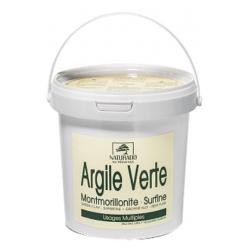 Comptoir Provencal des Argiles Argile verte Montmorillonite NATURADO pot 1kg produit de soin pour le visage et le corps Les Copi