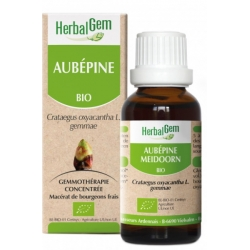 Herbalgem Aubépine bio Flacon compte gouttes 30ml 50ml Complément alimentaire Santé Les Copines Bio