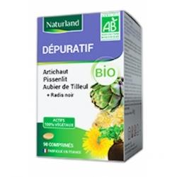 Naturland Aubier de Tilleul, Radis noir, Pissenlit, Artichaut 90 comprimés complément alimentaire bio Les Copines Bio