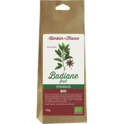Herbier De France Badiane 50gr produit pour la préparation de tisanes Les Copines Bio