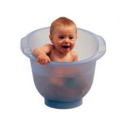 Popolini Baignoire Shantala Bleue: le bain écologique de 0 à 12 mois x1 Produit accessoire d'hygiène corporelle pour bébé Les Co