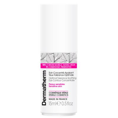 Dermatherm Soin concentré apaisant yeux tolérance optimale 15 ml peaux sensibles sans conservateurs les copines bio