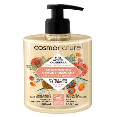 Cosmo Naturel Shampooing usage frequent 500 ml les copines bio