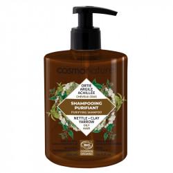 Cosmo Naturel Shampooing cheveux gras 500 ml - Sans ammonium lauryl sulfate les copines bio