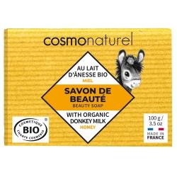 Cosmo Naturel Savon au lait d'ânesse et Miel sans Parfum 100gr savon bio les copines bio