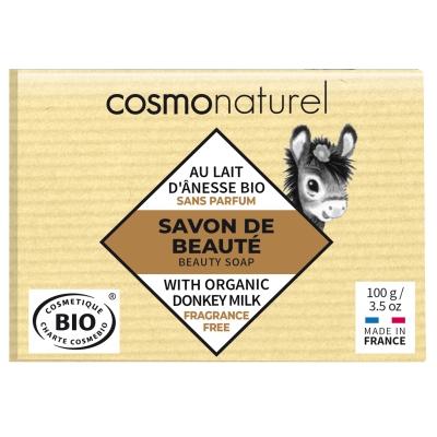Cosmo Naturel Savon au lait d'ânesse 100gr hydratant régénérant les copines bio