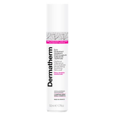 Dermatherm Soin hydratant apaisant anti rougeurs tolérance optimale 50 ml peaux atopiques aloe vera Les copines bio