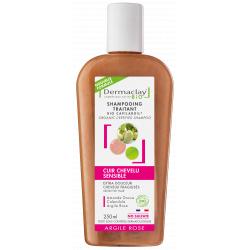 Dermaclay Shampoing bio Extra douceur Cheveux Fragiles et Délicats 250 ml souplesse et densité Les copines bio