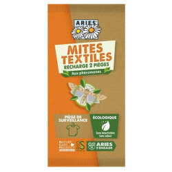 Aries Piège à mites textile x 2 recharges Mitbox action anti-mites naturelle Les copines bio