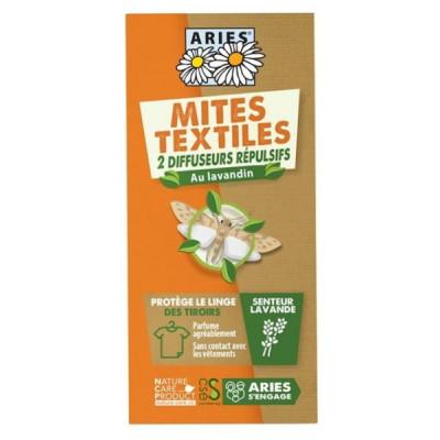 Aries Protection Anti Mites Textiles  2 Diffuseurs répulsifs lavandin neem Les copines bio