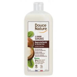 Douce Nature creme douche surgras huile de karite 1l lescopinesbio