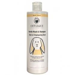 Odylique Bain et Shampoing Doux Bébé 200ml produit d'hygiène pour le corps de bébé Les Copines Bio