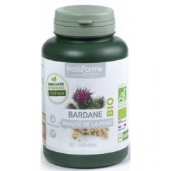 Nat et Form Bardane 250mg 80 gélules complément alimentaire Les Copines Bio