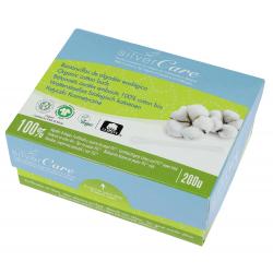 Silvercare bâtonnets ouatés embouts 100% coton bio 200 unités produit de nettoyage pour les oreilles Les Copines Bio